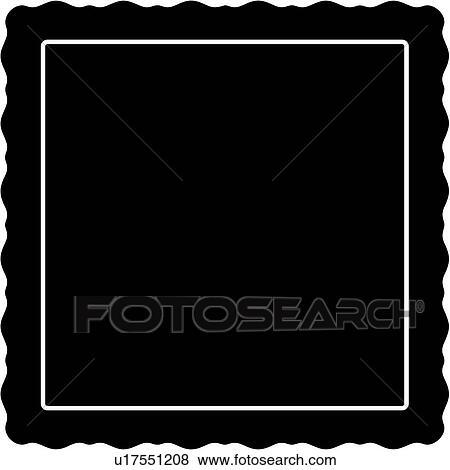 , blank, border, fancy, frame, square, panel, shapes, Clip ...Fancy Square Frame
