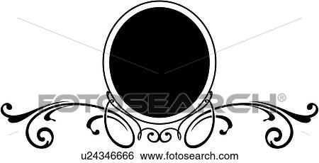 clip art of border circle fancy frame scroll u24346666 rh fotosearch com fancy scroll frame clip art
