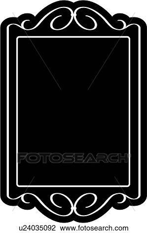 Schultafel clipart leer  Leer, umrandungen, phantasie, rahmen, rechteck, zeichen, tafel, formen,  Clipart