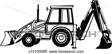 clip art of backhoe construction heavy equipment trade rh fotosearch com backhoe digging clipart clipart backhoe loader