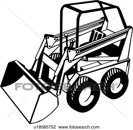 Heavy Equipment Bobcat Construction Trade Clipart