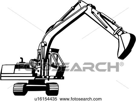 clipart of trade construction excavator heavy equipment rh fotosearch com