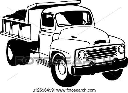 Clip Art of , heavy equipment, construction, dump truck, trade ...