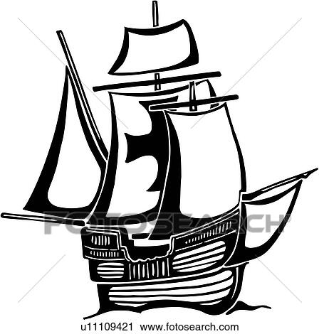 clipart of boat christopher columbus columbus holiday ocean rh fotosearch com columbus day clipart free clipart columbus day
