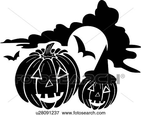 Clip Art Of Halloween Holiday Jackolantern Pumpkin Lantern
