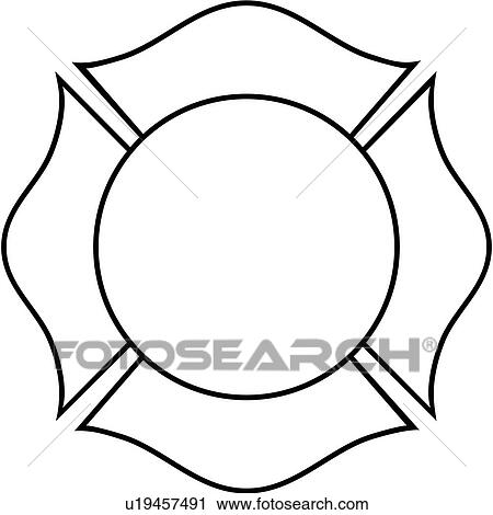 clipart of cross department emergency emergency services rh fotosearch com fire maltese clipart maltese terrier clipart