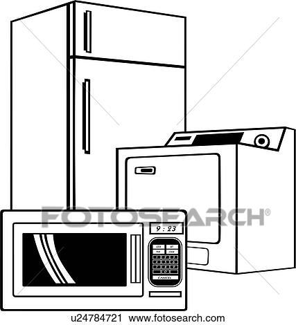 clipart of appliance business sign elements microwave rh fotosearch com microwave clipart free microwave clipart black and white