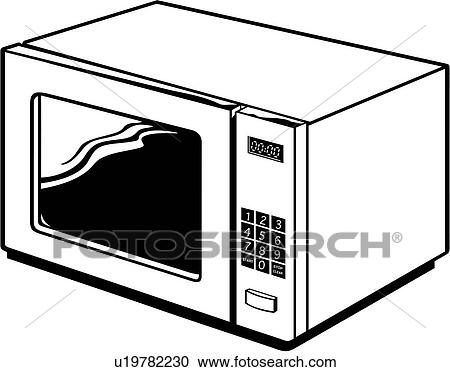 clipart of appliance kitchen microwave u19782230 search clip rh fotosearch com clip art kitchen stuff clip art kitchen appliances