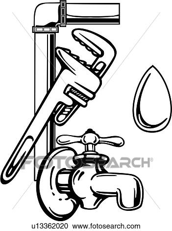 clipart of elements faucet occupations plumbing sign spigot rh fotosearch com plumbing clip art photos plumbing clipart images
