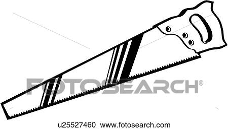 clipart of saw tool u25527460 search clip art illustration rh fotosearch com saw clipart saw clipart black and white