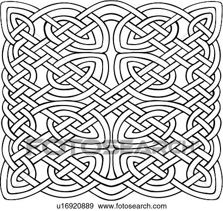 Abstract Celtic Knot Ornament Square