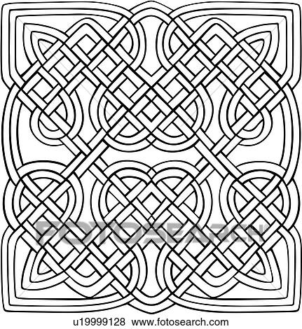 Abstract Celtic Knot Ornaments Square