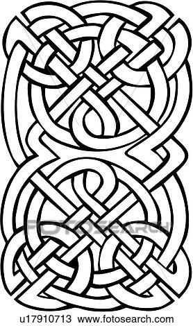 Abstract Celtic Knot Ornaments Rectangle