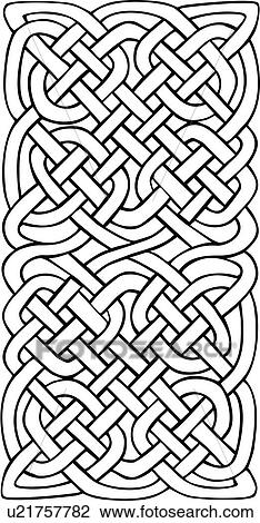 Abstract Celtic Knot Ornaments