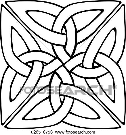 clipart of abstract celtic knot ornaments square u26518753 rh fotosearch com celtic knot clipart images celtic knot clipart free