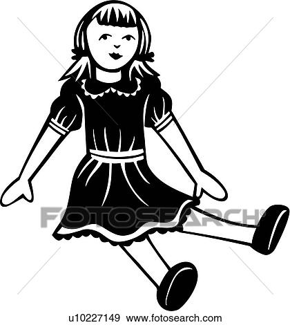Clip Art Of Baby Doll Toy U10227149 Search Clipart
