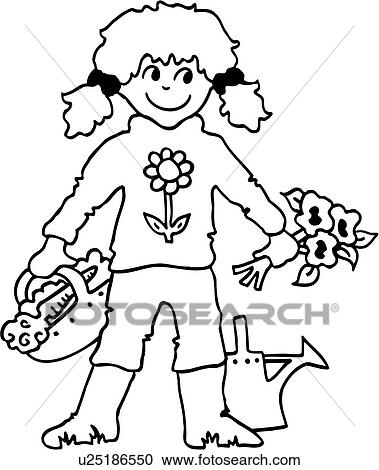 Image Result For Gardening Clipart Black And White Garden