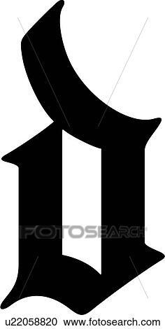 Alphabet Old English D Letter Lettered Lowercase