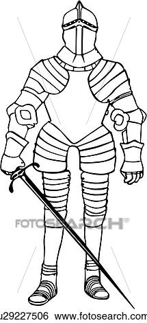 Clipart armure chevalier moyen ge arme weapons - Dessin armure ...
