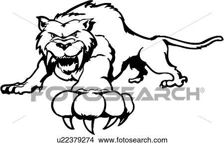 clipart animal gato fang felino dente sabre tiger desenhos