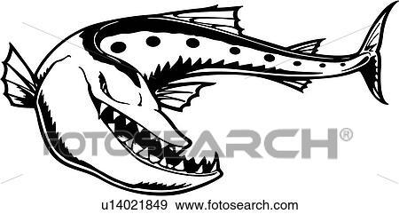 clip art of barracuda carnivore cartoons fish mascot mascots rh fotosearch com plymouth barracuda clipart barracuda clipart