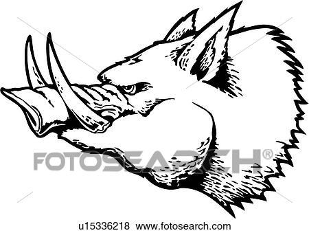 clip art of boar cartoons hog mascot mascots pig tusk rh fotosearch com wildcat mascot clipart tiger mascot clipart