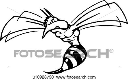 clipart of bug cartoons insect mascot mascots wasp rh fotosearch com fighting yellow jacket clipart yellow jacket clipart black and white