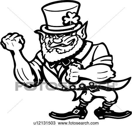 Clipart Of Cartoon Cartoons Clover Holiday Ireland Irish