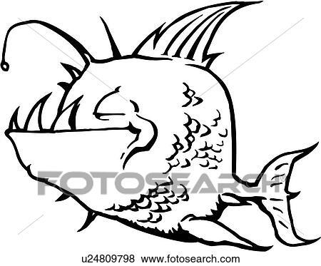 Clip Art Of Fish Ocean Sea Cartoons Cartoon Fangs Fang