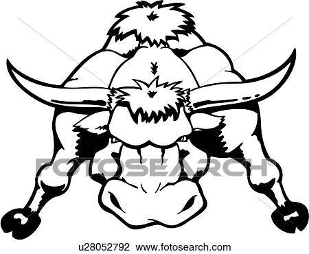 Clipart taureau corrida dessins anim s corne - Dessin de toro ...