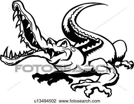 Clipart alligator animal crocodile croc gator reptile marais fauve dessins anim s - Dessin anime crocodile ...