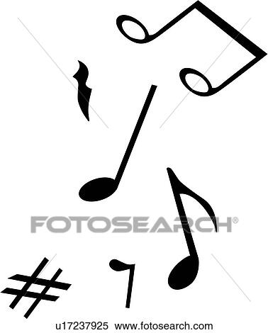 Clipart Of Instrument Musical Notes U17237925