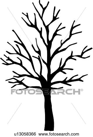Clip Art Of Seasons Sugar Maple Tree Varieties Winter