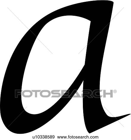 clip art of a alphabet calligraphy letter lowercase script rh fotosearch com letter a clipart black letter a clipart pictures