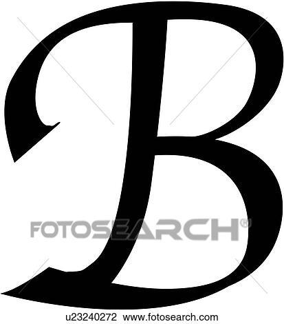 B  Clipart - alfabeto, b, blocco, calligrafia, capitale, cesello ...