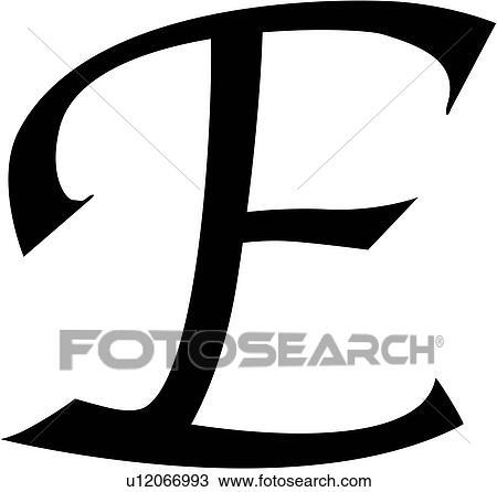 Clipart of alphabet block calligraphy capital chisel e alphabet block calligraphy capital chisel e letter script uppercase altavistaventures Images