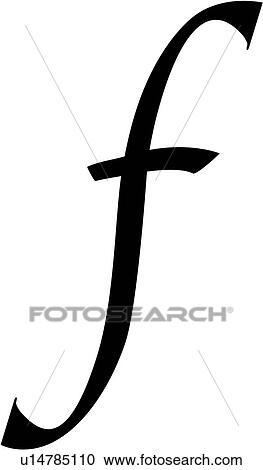 Clipart Of Alphabet Calligraphy F Letter Lowercase Script