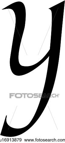 Alphabet Calligraphy Letter Lowercase Script Y