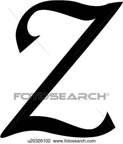 Clipart alphabet bloc calligraphie capital ciseau lettre sc nario majuscule z - Z en majuscule ...