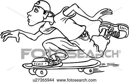 clipart of board boarder male skate skateboarder skater