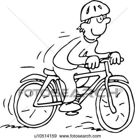 Clipart course action v lo aller bicyclette cycliste - Bicyclette dessin ...