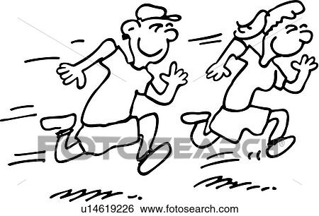 clip art of race action cartoon cartoons children kids