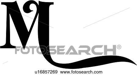 Alphabet Capital Letter Lettered M Swash Uppercase
