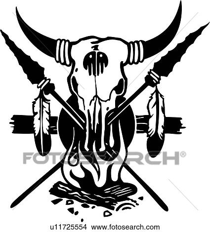 clipart of arrow feather graphic pinstriping power skull