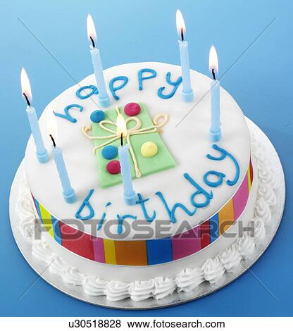 Happy Birthday Cake Picture.Happy Birthday Cake Standartinės Nuotraukos U30518828
