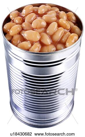 Tin Of Baked Beans On White Non Exclusive Stock Image U18430682 Fotosearch