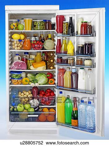 Open Full Fridge Stock Image U28805752 Fotosearch