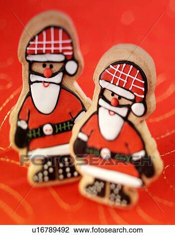 Christmas Santa Biscuits Cookies Stock Image