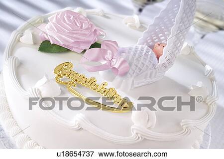 Bild Taufe Kuchen Madchen U18654737 Suche Stockfotografie