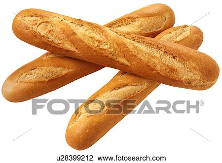 Stock Photo Of Three French Bread Baguettes